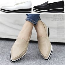 Reneve - Pointy-Toe Platform Loafers
