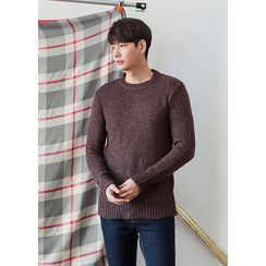 GERIO - Round-Neck Plain Sweater