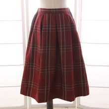 Reine - Plaid Pleated Midi Skirt