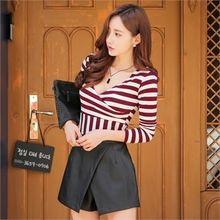 Babi n Pumkin - Surplice-Wrap Striped Top