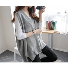 demavie - V-Neck Sleeveless Knit Top