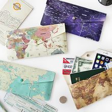 Full House - Map-Printed Travel Wallet