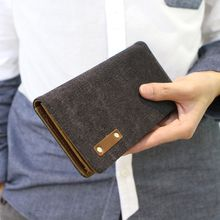 MR.BLUE - Canvas Long Wallet