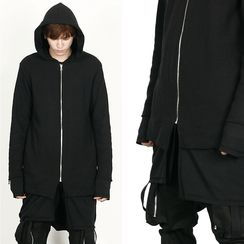 Rememberclick - Long Hoodie Zip-Up Jacket