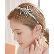 Miss21 Korea - Full-Rhinestone Butterfly Hair Band