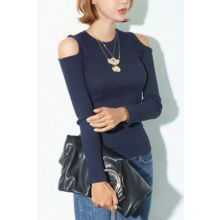 migunstyle - Shoulder Cutout Sweater
