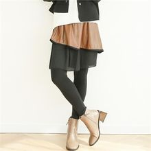 GLAM12 - Inset Layered Skirt Leggings
