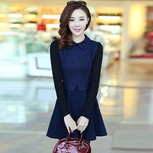 Lovebirds - Long-Sleeve Knit Panel Dress