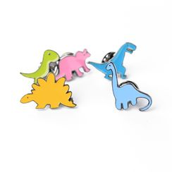Cascarada - Cartoon Dinosaur Collar Brooch