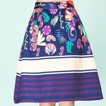 Strawberry Flower - Printed A-Line Skirt