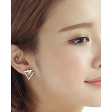 Miss21 Korea - Rhinestone Triangle Earrings