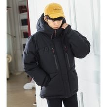 ABOKI - Hooded Padded Duck-Down Jacket