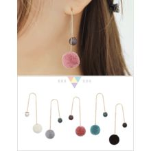 soo n soo - Pompom Threader Earrings