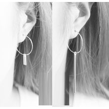 Zentangal - Geometric Asymmetric Earrings