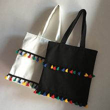 TGIF - Tasseled Canvas Shopper Bag