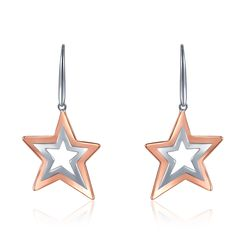MBLife.com - 925 Sterling Silver Dangling Star Hook Earrings