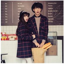 Tabla - Couple Matching Plaid Knit Coat