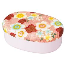 Hakoya - Hakoya Nunobari Oval One Layer Lunch Box Kaga Sakura (Pink)