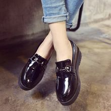 Sofree - Faux Patent Leather Platform Loafers