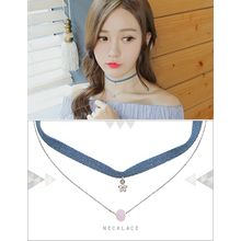 soo n soo - Denim Choker Layered Necklace