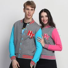 HappyTee - Applique Couple Baseball Jacket