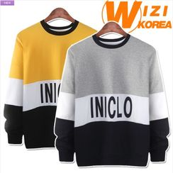WIZIKOREA - Color-Block Sweatshirt