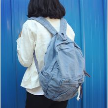 Bolso - Plain Canvas Backpack