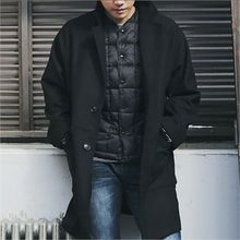 MITOSHOP - Notched-Lapel Single-Breasted Coat