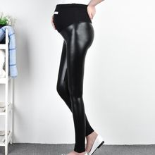 Emuna - Faux-Leather Maternity Leggings