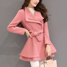 NINETTE - Tie-Waist Wide-Collar Zip Coat