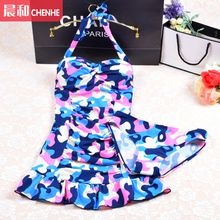 Morning Dew - Print Halter Swimdress