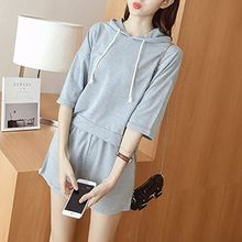 Cloud Nine - Set: Elbow-Sleeve Hooded T-Shirt + Shorts