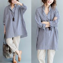 Lina Love - Gingham Long Shirt