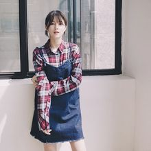 mimi&didi - Spaghetti-Strap Fray-Hem Denim Dress