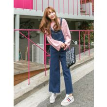 LOLOten - Wide-Leg Denim Jumper Pants