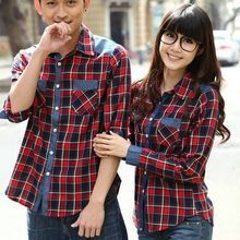 Lovebirds - Couple Plaid Shirt