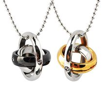 Trend Cool - Couple Matching Titanium Steel Layered Pendant Necklace