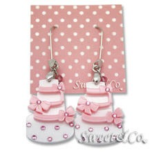 Sweet & Co. - Sweet Pink dolly cake swarovski dangle earrings