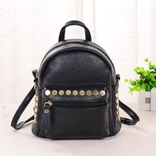 Vechel Bags - Studded Faux Leather Backpack