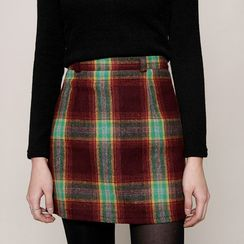 Envy Look - Check Mini Pencil Skirt