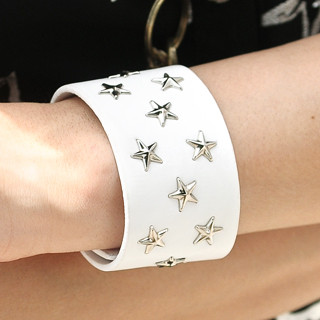 59 Seconds - Star-Stud Faux-Leather Bracelet