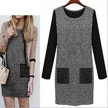 Lovebirds - Long-Sleeve Tweed Dress