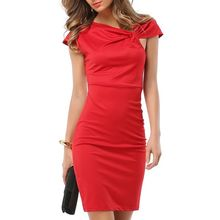 LIVA GIRL - Cap Sleeve Knotted Sheath Dress