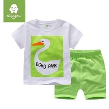 Endymion - Kids Set: Duck Print Short-Sleeve T-Shirt + Shorts