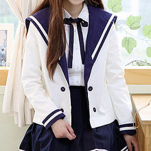 Sechuna - Sailor-Collar Open-Front Jacket
