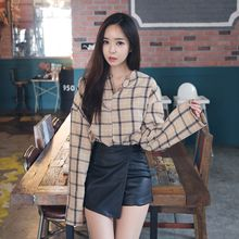 Envy Look - Long-Sleeve Check Blouse