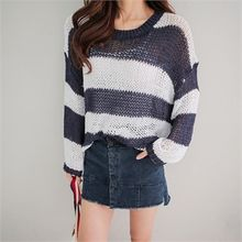 Babi n Pumkin - Striped Pointelle Knit Top