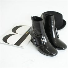 GLAM12 - Buckled Ankle-Length Boots