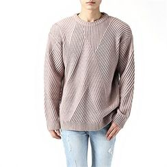 THE COVER - Round-Neck Patterned Sweater