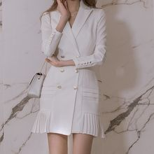 Aurora - Long-Sleeve Buttoned Dress